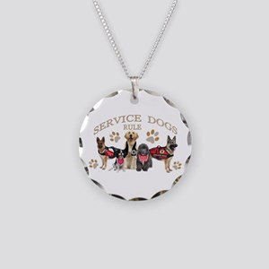 Service Dogs Rule Gifts And Necklace Circle Charm