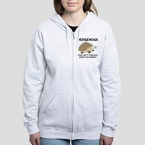 Hedgehog Pun Women's Zip Hoodie