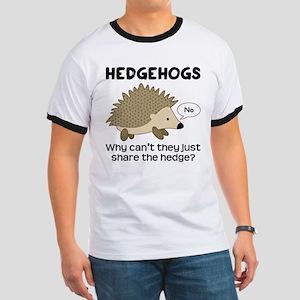 Hedgehog Pun Ringer T