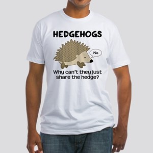 Hedgehog Pun Fitted T-Shirt