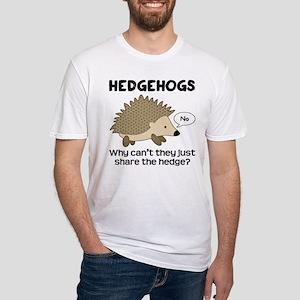 Hedgehog Pun Fitted T-Shirt