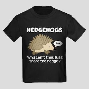 Hedgehog Pun Kids Dark T-Shirt