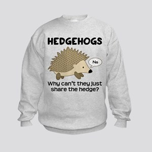 Hedgehog Pun Kids Sweatshirt
