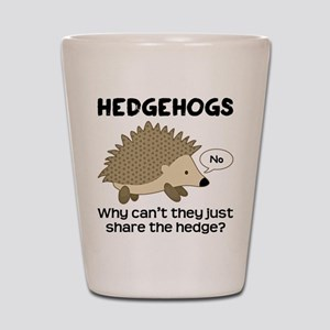 Hedgehog Pun Shot Glass