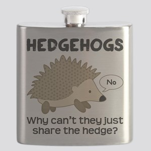 Hedgehog Pun Flask
