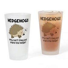 Hedgehog Pun Drinking Glass