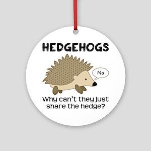 Hedgehog Pun Ornament (Round)