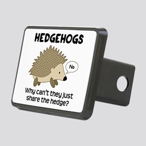 Hedgehog Pun Rectangular Hitch Cover