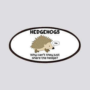 Hedgehog Pun Patches