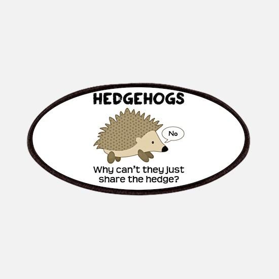 Hedgehog Pun Patches