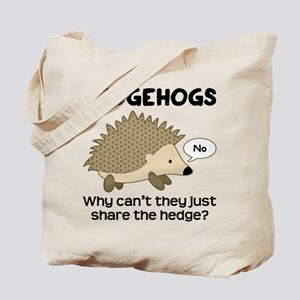 Hedgehog Pun Tote Bag