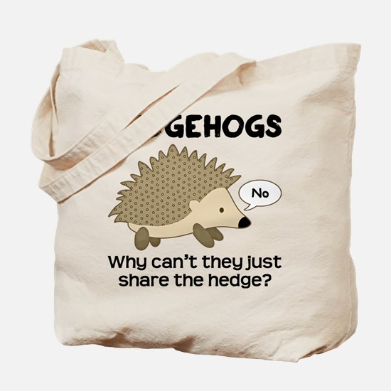 Hedgehog Pun Tote Bag