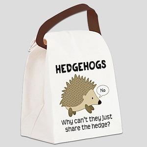 Hedgehog Pun Canvas Lunch Bag