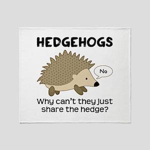 Hedgehog Pun Throw Blanket