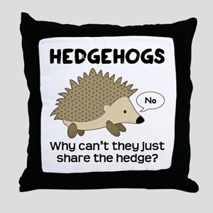 Hedgehog Pun Throw Pillow