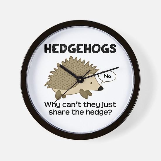 Hedgehog Pun Wall Clock