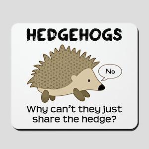 Hedgehog Pun Mousepad