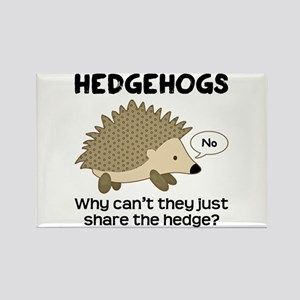 Hedgehog Pun Rectangle Magnet