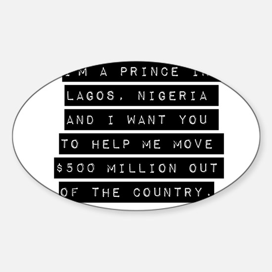 Im A Prince In Lagos Nigeria Decal
