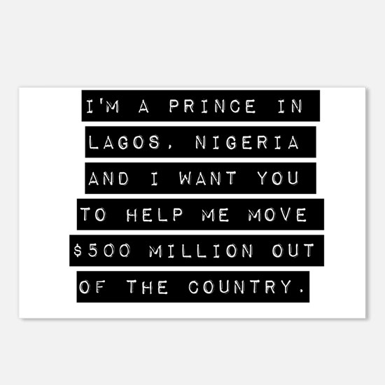 Im A Prince In Lagos Nigeria Postcards (Package of