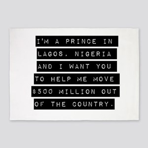 Im A Prince In Lagos Nigeria 5'x7'Area Rug