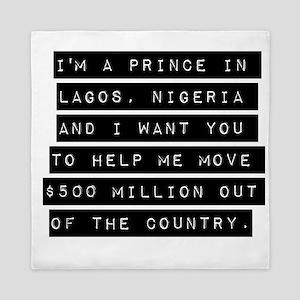Im A Prince In Lagos Nigeria Queen Duvet