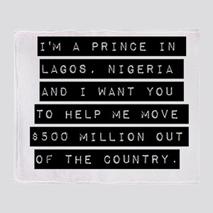 Im A Prince In Lagos Nigeria Throw Blanket