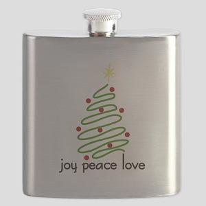 Joy Peace Love Flask