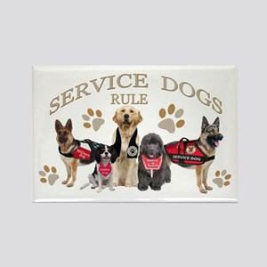 Service Dogs Rule Gifts And Apparel Magnets