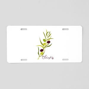 Olives Aluminum License Plate