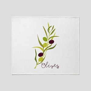 Olives Throw Blanket