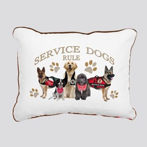 Service Dogs Rule Gifts Rectangular Canvas Pillow