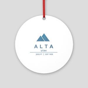 Alta Ski Resort Utah Ornament (Round)