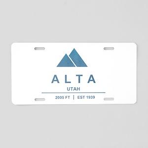Alta Ski Resort Utah Aluminum License Plate