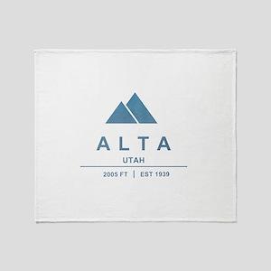 Alta Ski Resort Utah Throw Blanket