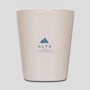Alta Ski Resort Utah Shot Glass