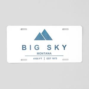 Big Sky Ski Resort Montana Aluminum License Plate