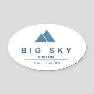 Big Sky Ski Resort Montana Oval Car Magnet