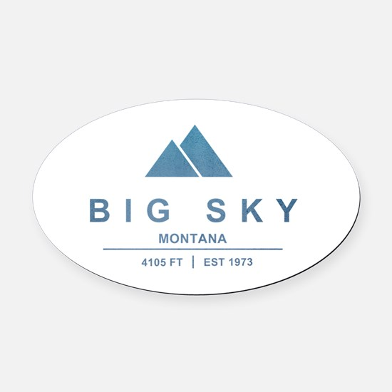 Big Sky Ski Resort Montana Oval Car Magnet