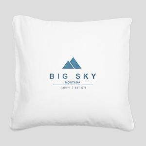 Big Sky Ski Resort Montana Square Canvas Pillow