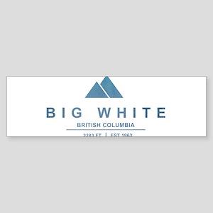 Big White Ski Resot British Columbia Bumper Sticke