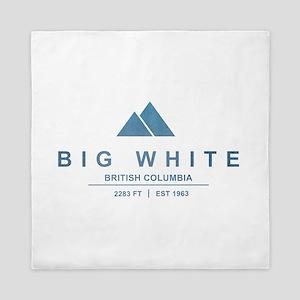 Big White Ski Resot British Columbia Queen Duvet