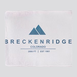 Breckenridge Ski Resort Colorado Throw Blanket