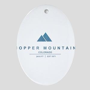 Copper Mountain Ski Resort Colorado Ornament (Oval