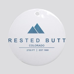 Crested Butte Ski Resort Colorado Ornament (Round)