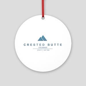 Crested Butte Ski Resort Colorado Ornament (Round)