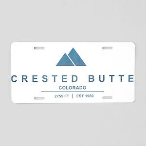 Crested Butte Ski Resort Colorado Aluminum License
