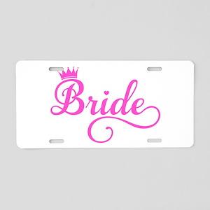 Bride pink Aluminum License Plate