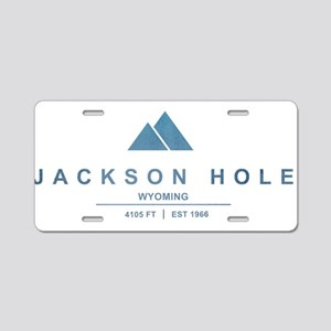 Jackson Hole Ski Resort Wyoming Aluminum License P
