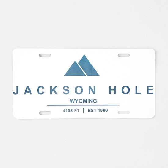 Jackson Hole Ski Resort Wyoming Aluminum License P